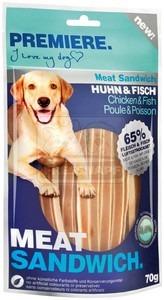 PREMIERE dog MEAT SANDWICH chicken+fish, 70 g