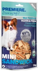 PREMIERE dog MINI SANDWICH chicken+fish, 70 g