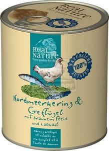 Real Nature kutyakonzerv, 800 g északi tengeri heringgel