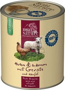 Real Natur senior bárány-csirke 800g kutyakonzerv