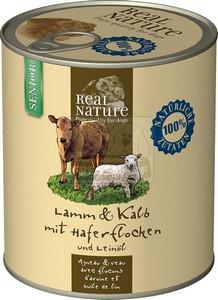 Real Nature senior bárány-borjú 800g kutyakonzerv