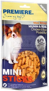 PREMIERE dog MINI STICKS chicken+rice, 70g
