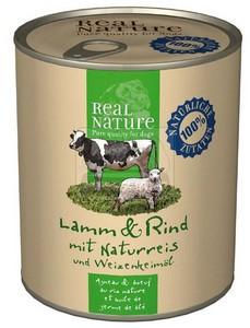 Real Nature kutyakonzerv bárány+marha 800g