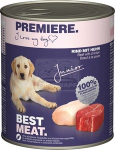 Premiere kutyakonzerv junior 800g csirke-marha