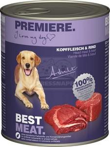 Premiere kutyakonzerv adult 800g fejhús-marha