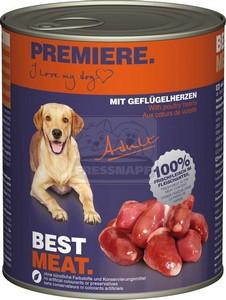 Premiere kutyakonzerv adult 800g csirkeszív