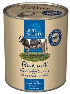 Real Nature kutyakonzerv marha 800g