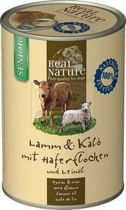 Real Nature senior bárány-borjú kutyakonzerv 400g