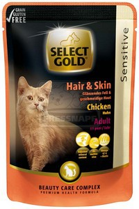 SELECT GOLD adult Hair+Skin alutasakos 85g csirkés