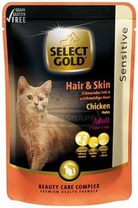 SELECT GOLD adult Hair+Skin alutasakos 85g csirkés