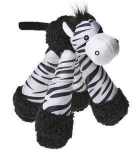 AniOne kutyajáték szafari hosszú lábú sípoló zebra 22cm