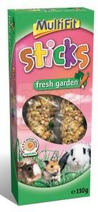 MultiFit Sticks Fresh Garden duplarúd rágcsálóknak 110g