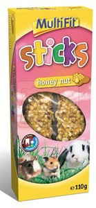 MultiFit Sticks Honey Nut duplarúd rágcsálóknak 110g