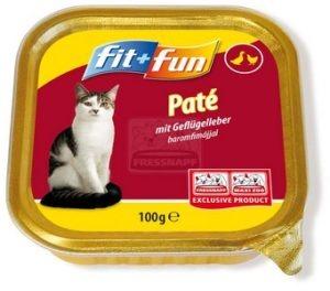 fit+fun tálkás eledel cicáknak, csirkemáj 100g