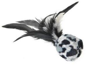 AniOne cicajáték labda leo tollal 4cm