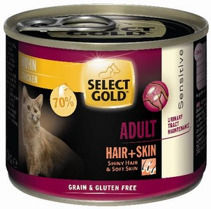 Select Gold cicakonzerv Hair+skin csirke 200g