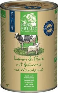 Real Nature konzerv kutyáknak bárány+marhahús 400g