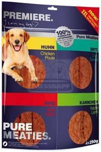 PREMIERE BEST MEAT jutalomfalat kutyáknak – színhús csirke,kacsa, marha & nyúl 4x250g