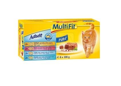 MultiFit multipack paté tálkás cicaeledel 8x100g