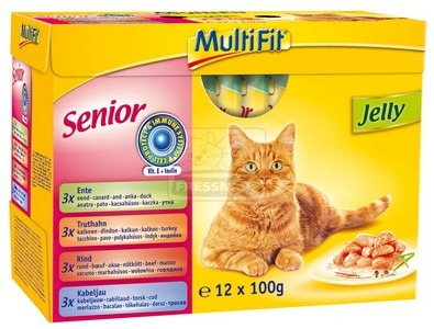 MultiFit multipack senior zselés tasakos cicaeledel 12x100g