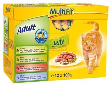 MultiFit multipack zselés tasakos cicaeledel hair&skin 12x100g