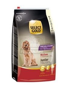 SELECT GOLD Sensitive Medium Junior Bárány, Lazac & Burgonya száraz kutyaeledel 4 kg