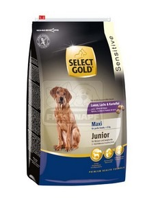 SELECT GOLD Maxi Junior Bárány, Lazac & Burgonya száraz kutyaeledel 4 kg