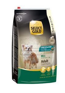 SELECT GOLD Sensitive Mini Adult Lazac & Burgonya száraz kutyaeledel 4 kg