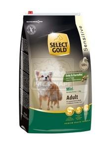 SELECT GOLD Sensitive Mini Adult Kacsa & Burgonya száraz kutyaeledel 4 kg