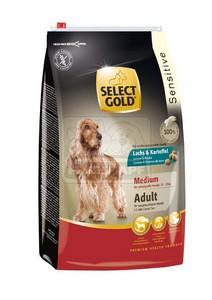 SELECT GOLD Sensitive Medium Adult Lazac & Burgonya száraz kutyaeledel 4 kg
