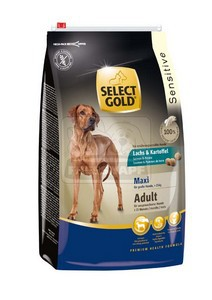 SELECT GOLD Sensitive Maxi Adult Lazac & Burgonya száraz kutyaeledel 12 kg