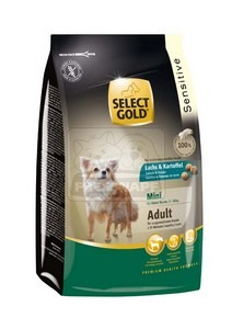 SELECT GOLD Sensitive Mini Adult Lazac & Burgonya száraz kutyaeledel 1 kg