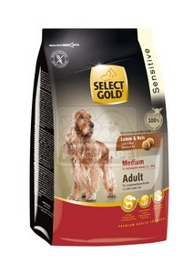SELECT GOLD Sensitive Medium Adult Bárány & Rizs száraz kutyaeledel 12 kg