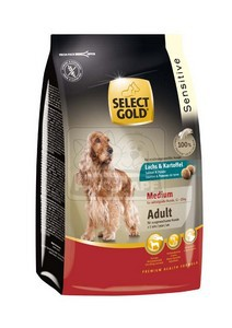 SELECT GOLD Sensitive Medium Adult Lazac & Burgonya száraz kutyaeledel 1 kg