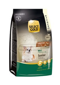 SELECT GOLD Sensitive Mini Senior Bárány & Rizs száraz kutyaeledel 1 kg