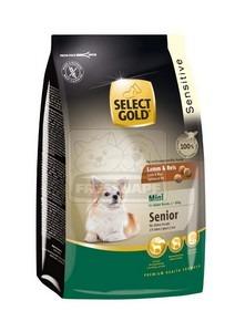 SELECT GOLD Sensitive Mini Senior Bárány & Rizs száraz kutyaeledel 1 kg