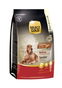 SELECT GOLD Sensitive Medium Senior Bárány & Rizs száraz kutyaeledel 1 kg