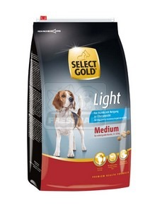 SELECT GOLD Medium Light száraz kutyaeledel 4 kg