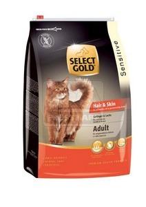 SELECT GOLD Hair & Skin Adult baromfi, lazac és garnéla szárazeledel macskáknak, 3 kg