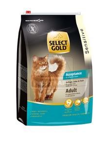 SELECT GOLD Acceptance Adult baromfi, máj & hal, szárazeledel macskáknak, 3 kg