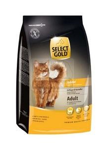 SELECT GOLD Indoor Adult baromfi & burgonya szárazeledel macskáknak, 400 g