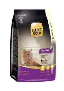 SELECT GOLD Digestion Senior baromfi & rizs szárazeledel macskáknak, 400 g