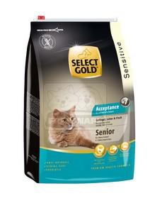 SELECT GOLD Acceptance Senior baromfi, máj & hal szárazeledel macskáknak, 3 kg