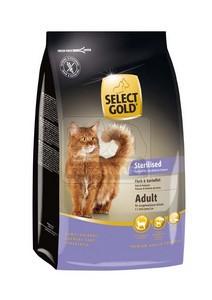 SELECT GOLD Sterilised Adult hal & burgonya szárazeledel macskáknak, 400 g