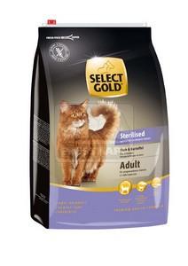 SELECT GOLD Sterilised Adult hal & burgonya szárazeledel macskáknak, 3 kg