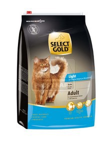 SELECT GOLD Light csirke szárazeledel macskáknak, 3 kg