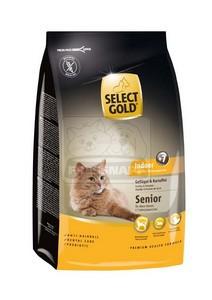 SELECT GOLD Indoor Senior baromfi & burgonya szárazeledel macskáknak, 400 g