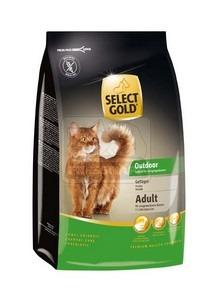 SELECT GOLD Outdoor Senior baromfi szárazeledel macskáknak, 400 g