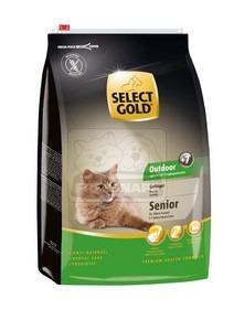 SELECT GOLD Outdoor Senior baromfi szárazeledel macskáknak, 3 kg