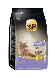 SELECT GOLD Sterilised Senior hal & burgonya szárazeledel macskáknak, 400 g